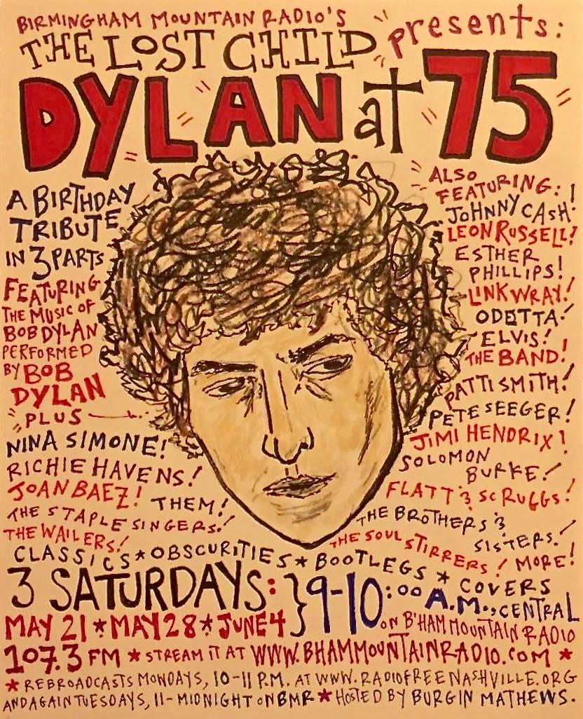 DYLAN @ 75 drawing