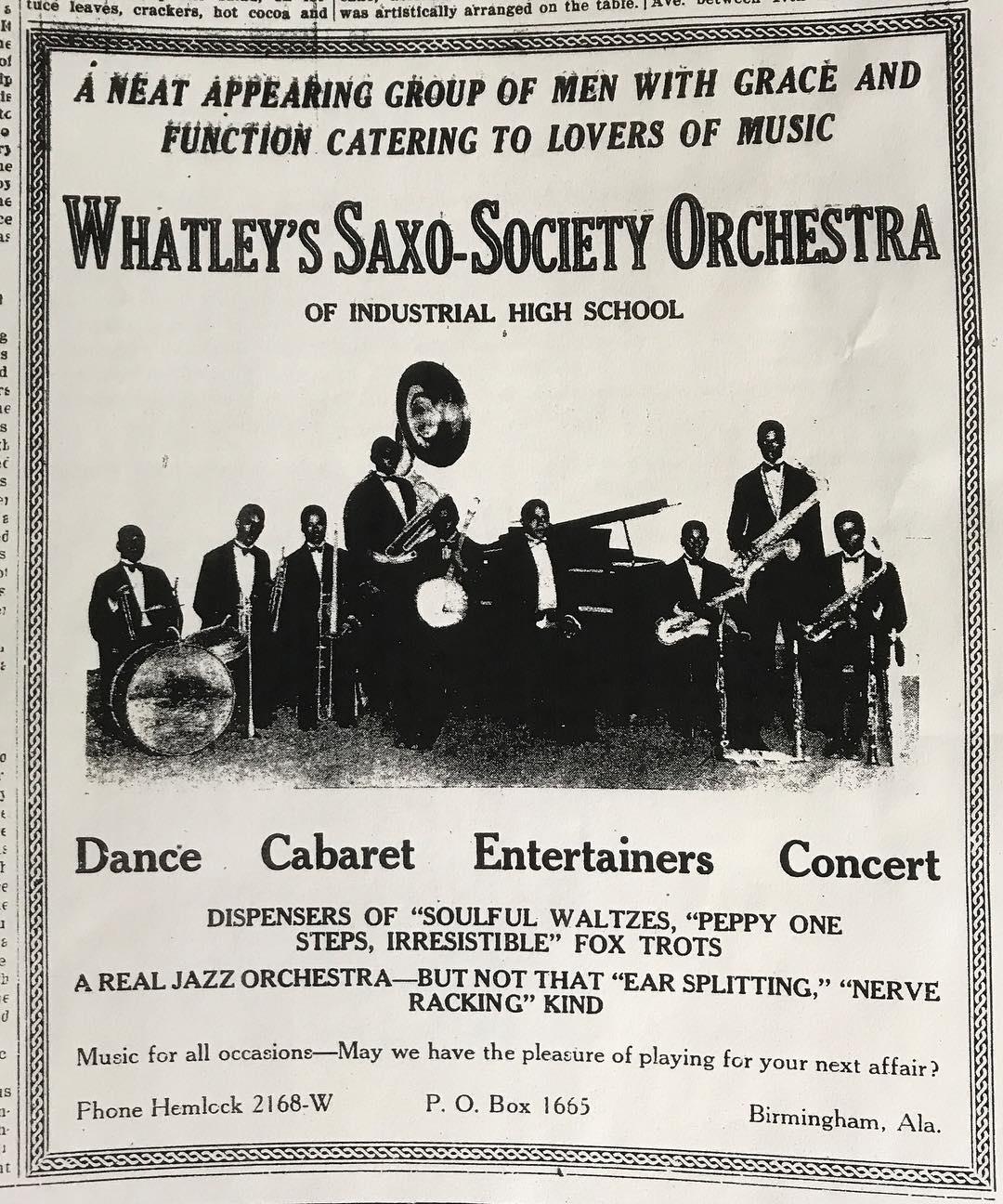 sax-o-society ad (photo)
