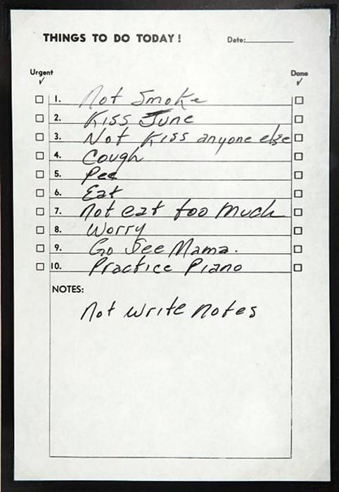 Johnny Cash list