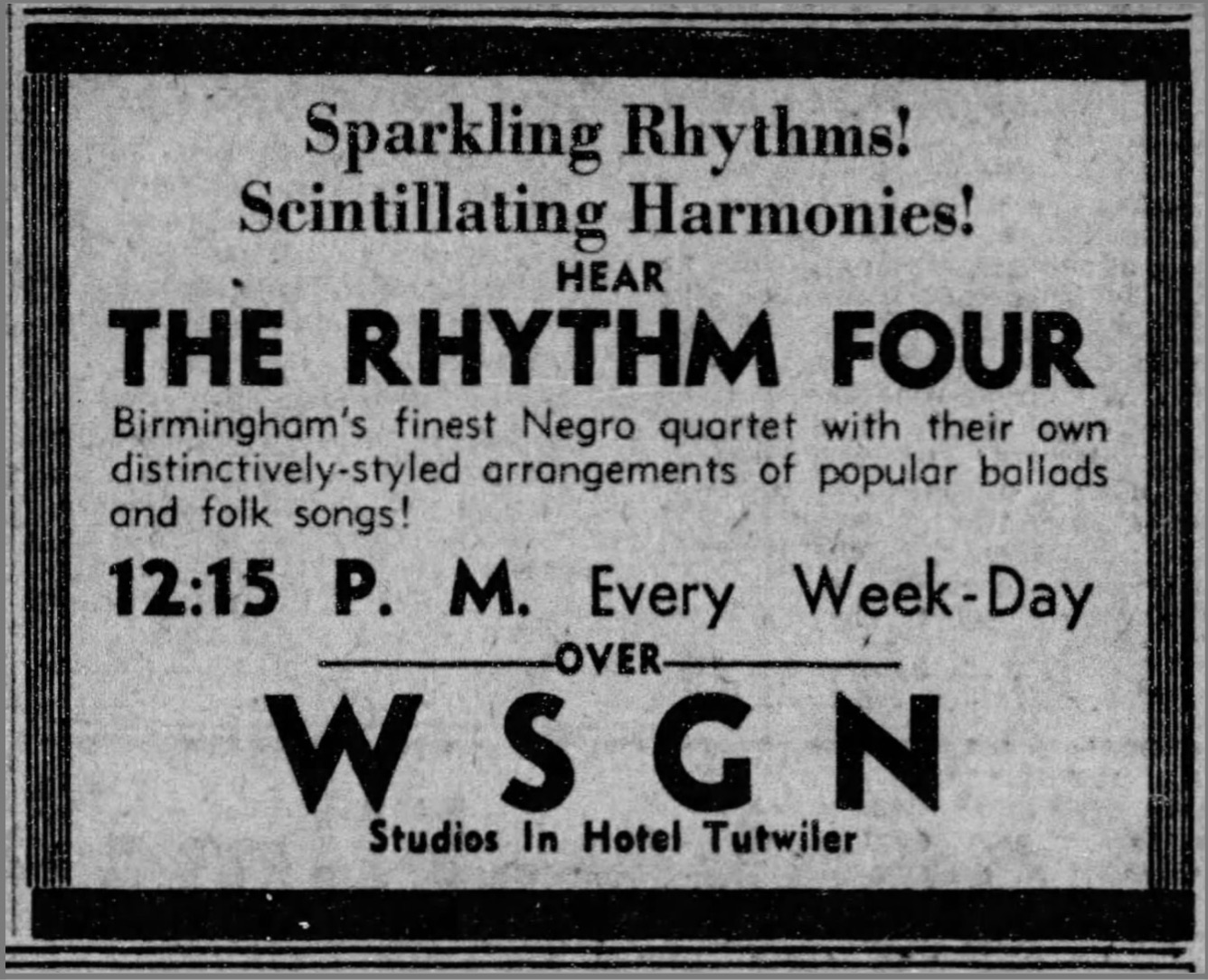 Great Rhythm Four ad 1939