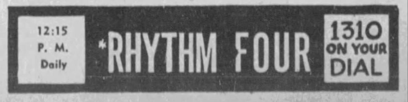 Rhythm Four narrow 39 ad